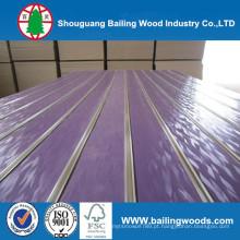 Slot MDF / Plain / folheado de madeira / PVC / HPL / UV / melamina MDF laminado