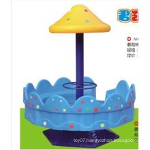 Hot sale kids theme park mushroom revolving chair