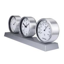 Hot sale weather station clock alarm table clock antique desk & table clocks