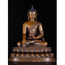 religious style brass metal craft buddha shakyamuni statue