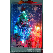 árbol de fibra óptica de la iluminación de la Navidad de la venta caliente con la estrella