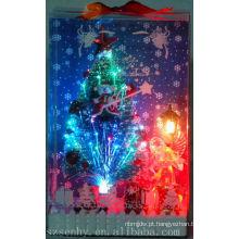 Venda quente de iluminação de Natal árvore de fibra óptica com estrela