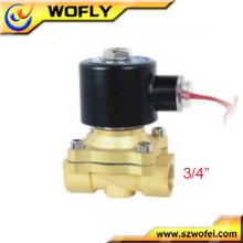 3/4 pulgadas 2 posiciones 2 vías solenoide agua válvula temperatura normal