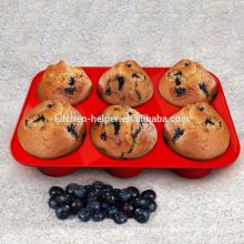 FDA LFGB Standard-Hochwertige Fabrik Preis Lebensmittel Grade Cupcake Backform Non-Stick Silikon Bakeware Cups Muffin Pan