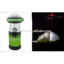 Lanterna de acampamento lanterna de 500 lúmen de alumínio luz do acampamento 4x 1.5V AA camping