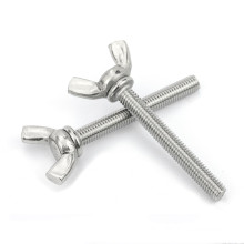 Zinc Plated Carbon Steel M4 M5 M6 M8 M10 Butterfly Wing Thumb Screws