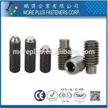 Feito em Forjado de aço inoxidável Cobre Slotted Set Screw com ponto de cão DIN915