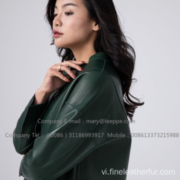 Patent Leather Long Coat For Lady