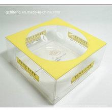Pastel de cumpleaños de la boda Cajas de embalaje con ventana (caja de plástico claro)