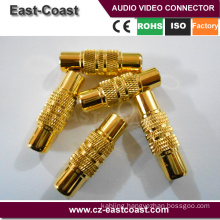 Gold Plated rca to rca female adapter av connector