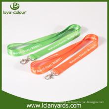 Neues Design maßgeschneiderte Farbe und Logo Polyester Lanyards