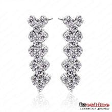Boucles d'oreilles pendantes en forme de coeur de haute qualité Pendientes (CER0029-B)