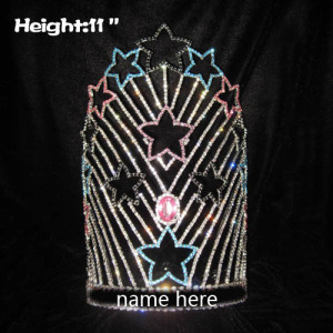 11in Height Crystal Custom Star Pageant Crowns