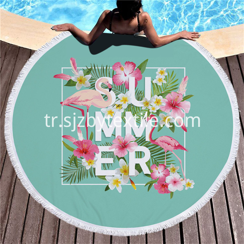 100 Cotton Round Beach Towel