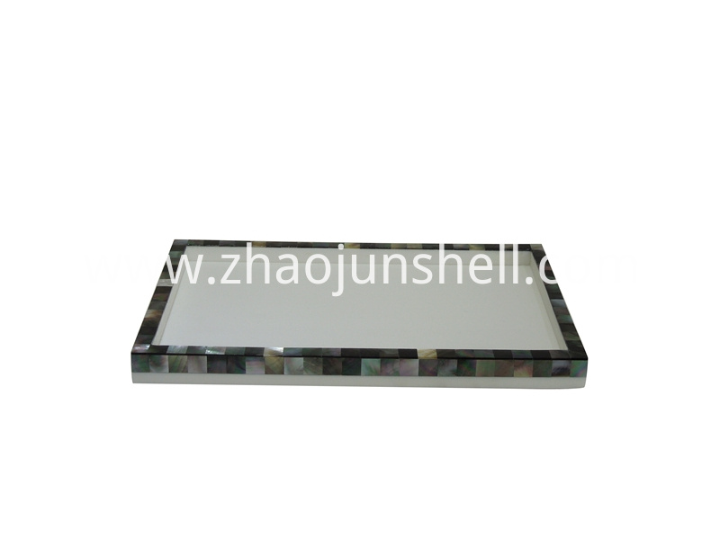 black mother of pearl tray