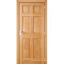 Unvollendete innen Eiche furniert, 6-Panel zusammengesetzten Stil und Schiene Holztür