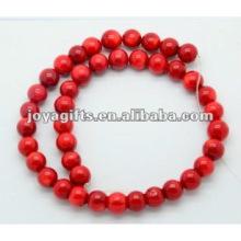 10MM Rote Koralle Runde Perlen