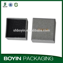 Silver paper hot stamping logo custom jewelry gift boxes wholesale