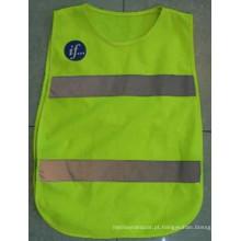 Waistcoat de segurança de alta visibilidade com En 20471 para estrada
