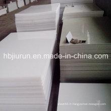 Feuille en plastique pure de polypropylène pp avec l'épaisseur de 2-30mm
