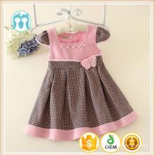 encantadora niña se viste de color rosa cap manga del bebé princesa vestido de corte