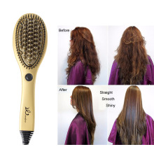 Hair Straightening Brush Ceramic 3D