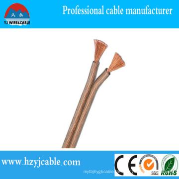 Best Speaker Wire Flexible Kupfer Transparente PVC-Lautsprecher-Kabel