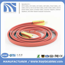 High Speed 1.4 Version Flat HDMI Cable for 3D 4K DVD HDTV 1080P BLURAY