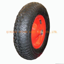 popular rubber wheel 4.00-8 welded steel rim.