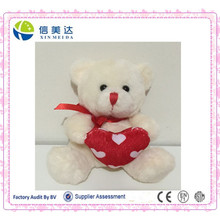 White Teddy Bear with a Red Heart