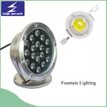 18W Single Color Underwater LED Fountain Lighting