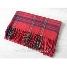 Fashion ladies winter warm plaid long écharpe châle