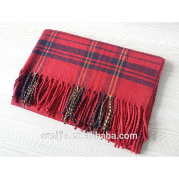 Fashion ladies winter warm plaid long scarf shawl