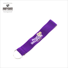 Custom Woven Print Elastic Band Lanyard for Promotional
