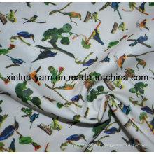 Tissu teint par satin de polyester imprimé pour le textile de feuille de lit d'enfants
