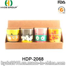 Cute Design BPA Free Plastic Bamboo Fiber Cup (HDP-2068)