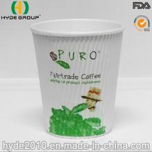 12oz Ripple Papier isolierte Kaffeetassen