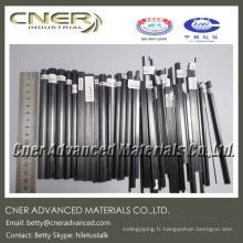 Tige / pôle en fibre de carbone Pultrusion, disponible en différentes formes et tailles