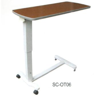 Mobile dining table for hospital patients
