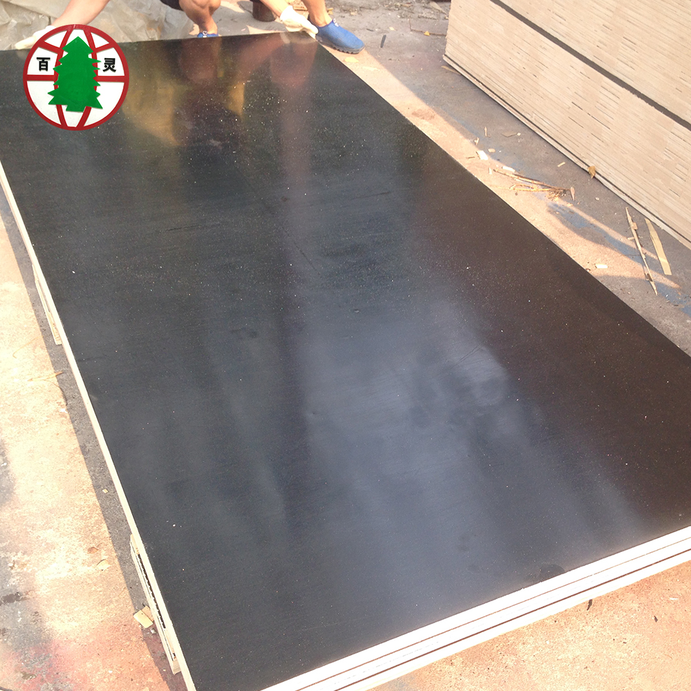 18mm full poplar core black film faced plywood
