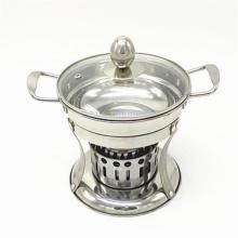 Plato de frotamiento de la estufa del alcohol de la comida fría del acero inoxidable del olor