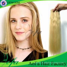 7A Grade 100% gerade reines Haar Remy menschliche Hairextension