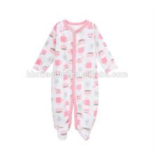 2017 vente chaude imprimé nouveau né bébé barboteuses infantile vêtements imprimés à manches longues hiver bébé fille barboteuse