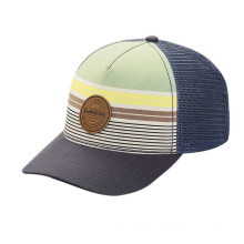 Leather Patch Embroidery Mesh Cap for Summer