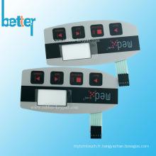 Interrupteur à membrane non tactile en PVC FPC personnalisé