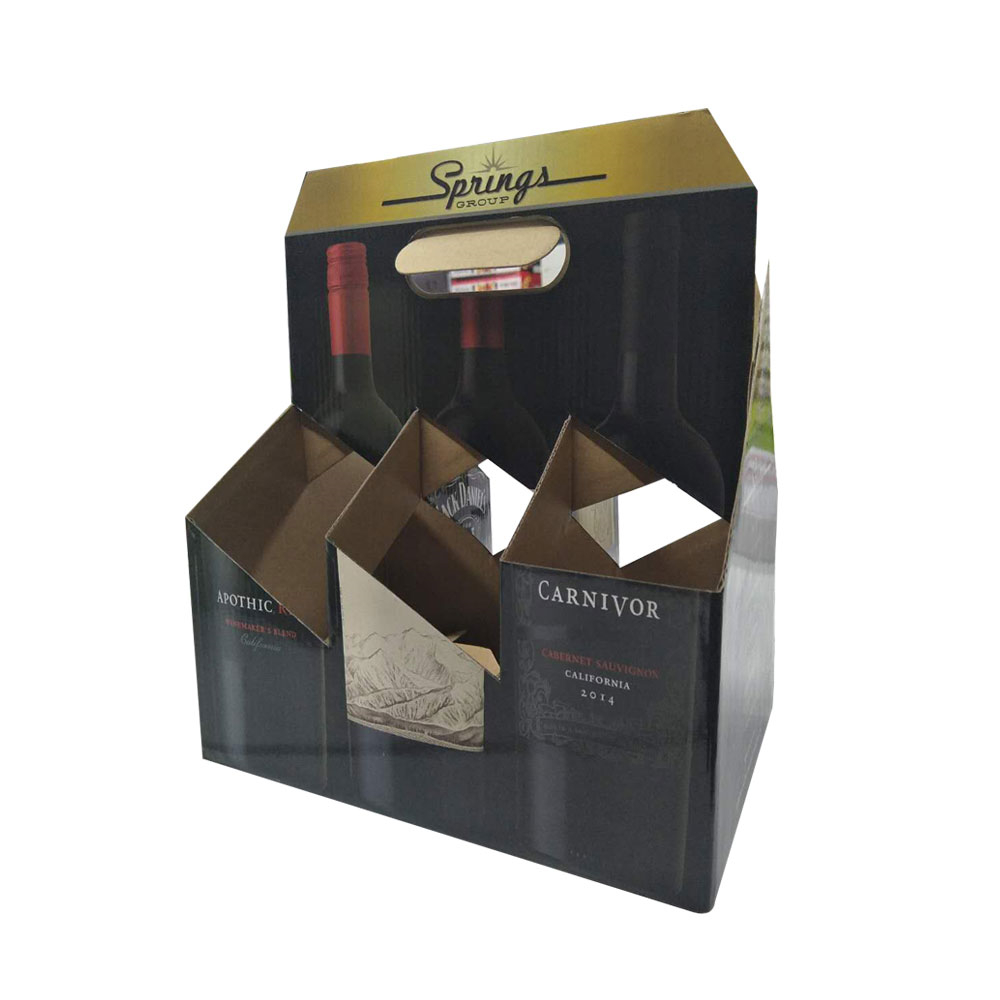 Printed Handle Paper 6 Pack Beer Carrier Box