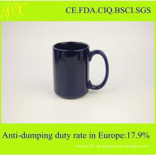 Fabrik-Verzeichnis Großhandel Glasur Keramik Becher mit Griff für Kaffee