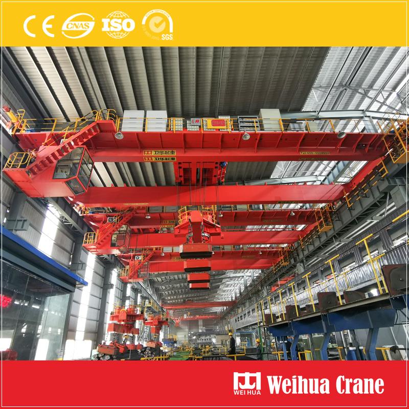Overhead Crane With Rotary Magnet Beam