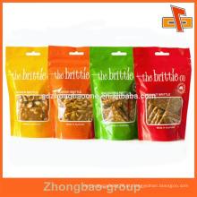 Saco de ziplock da folha da embalagem de alimento por atacado com logotipo