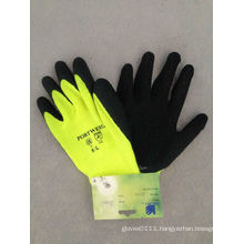 10g Fluorescent Warning Color Latex Coated Chemical Work Glove